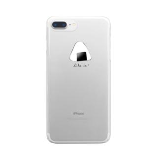 おしるこファクトリーのおにぎり Clear smartphone cases