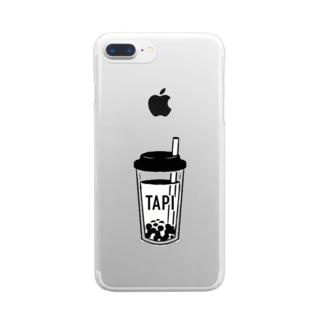 おしるこファクトリーのおタピ Clear smartphone cases