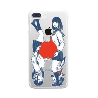 日本国ツインズ Clear smartphone cases