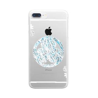 徳川(武将)シリーズ(白線) Clear smartphone cases