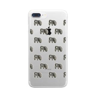 くまくまくまくまくまくまくま Clear smartphone cases