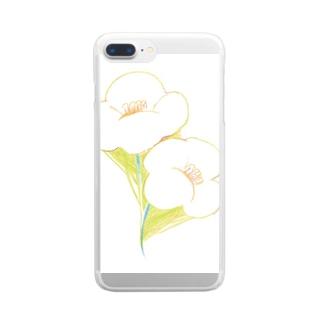 お花のあわせ Clear smartphone cases