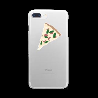 めろんそーだ。のトマトとバジルのピザ Clear smartphone cases