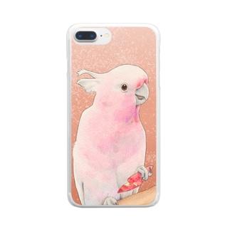 クルマサカオウム Clear smartphone cases