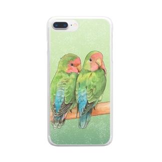 コザクラインコ Clear smartphone cases