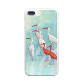 トキ Clear smartphone cases