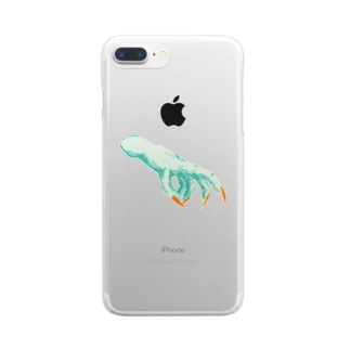 the hand Clear smartphone cases