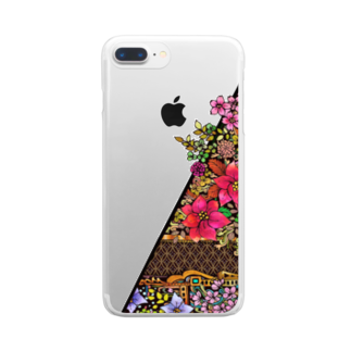 nvivetoのネイチャーシリーズ 花言葉 ~Nature series Flower~ Clear smartphone cases