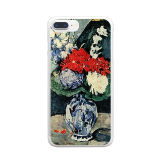 ポール・セザンヌ / 1874 /Still life, Delft vase with flowers / Paul Cezanne Clear smartphone cases