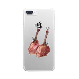 肉食/チキン×鶏さん Clear smartphone cases