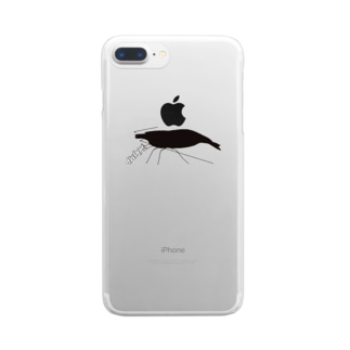 えびちゃんグラフィック Clear smartphone cases