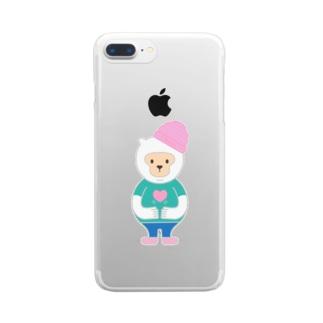 優しさバイブレーション Vo.1 Clear smartphone cases