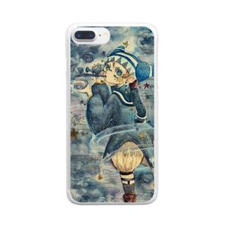 天文呪術少年 Clear smartphone cases