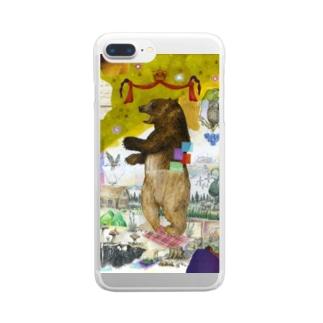 森の主(グッズ) Clear smartphone cases