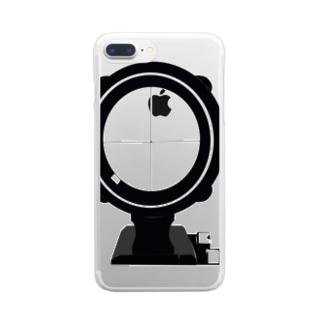 スコープ 「見てますよ」 Clear smartphone cases