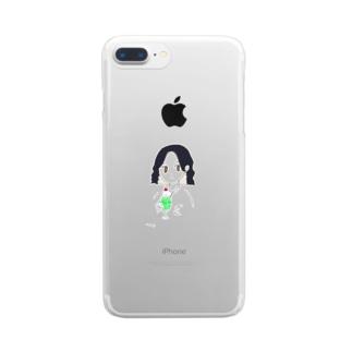 めろんクリームソーダちゃん Clear smartphone cases
