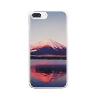 あかふじ 君 Clear smartphone cases