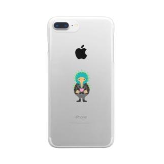優しさバイブレーション Vol.3 Clear smartphone cases