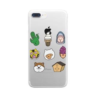 オームチャリブレ! Clear smartphone cases