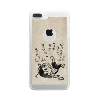 鳥獣戯画みつや Clear smartphone cases
