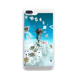Alice walking in the sky Clear smartphone cases