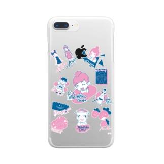 ニコニコ生放送記念期間限定デザイン~A柄~ Clear smartphone cases