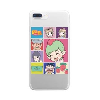 ニコニコ生放送記念期間限定デザイン~B柄~ Clear smartphone cases
