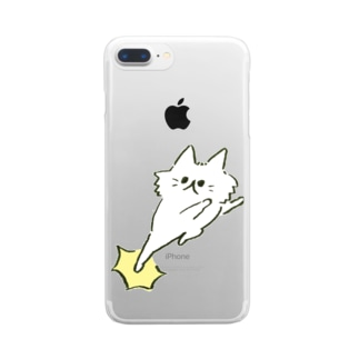 猫キック Clear smartphone cases
