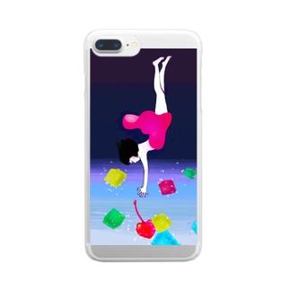炭酸少女 Clear smartphone cases