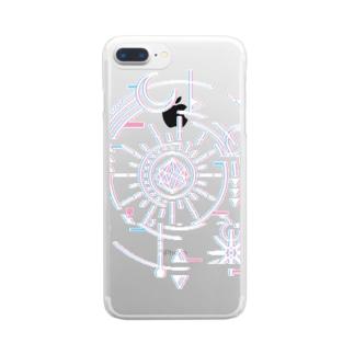 神父グッズ-ver.2 Clear smartphone cases