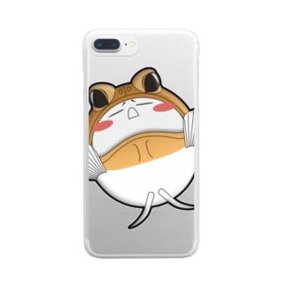 ジョーフィッシュの皮を被ったナニか Clear smartphone cases