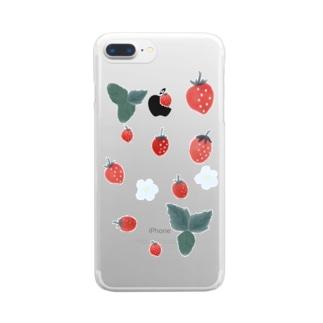 いちごさん Clear smartphone cases