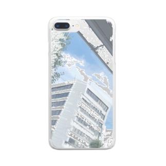 無人市街地 Clear smartphone cases