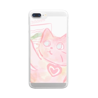 pray cat Clear smartphone cases