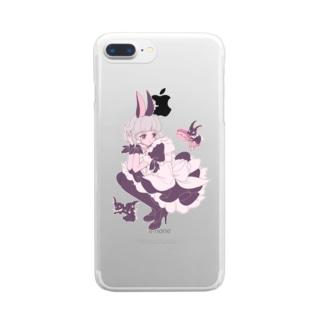 ふんわわ Clear smartphone cases
