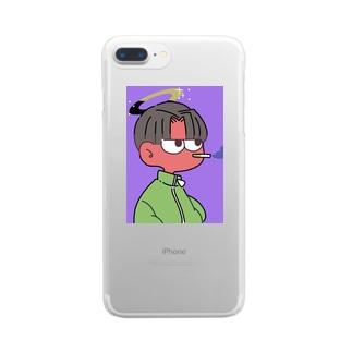 天使くんスマホケース Clear smartphone cases