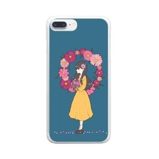 乙女の純潔 Clear smartphone cases