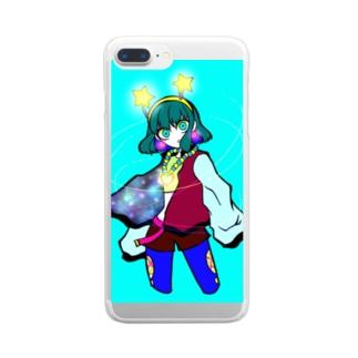 お祭りの魔法使い Clear smartphone cases