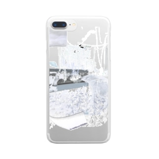 silver interior Clear smartphone cases