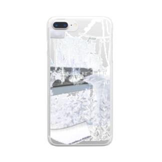 silver interior Clear smartphone cases