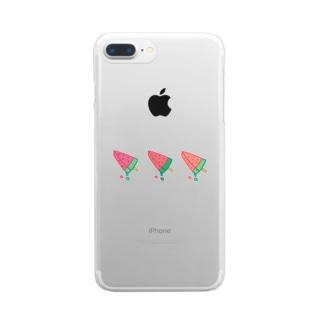 スイカのアイス Clear smartphone cases