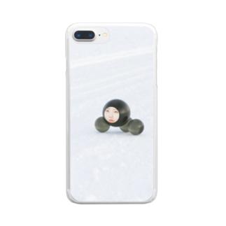 冬を越すタピオカの親子 Clear smartphone cases