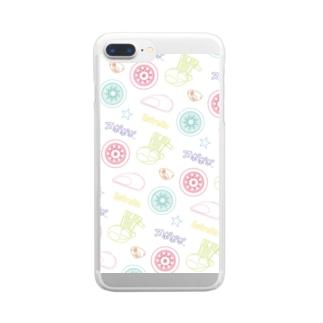 ゆるふわパステルEST Clear smartphone cases