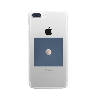 moon Clear smartphone cases