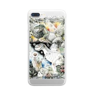 博物〜恐竜〜 g Clear smartphone cases