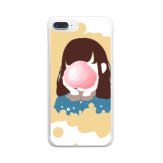 ピーチ Clear smartphone cases