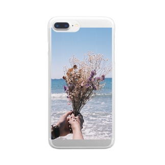Flower series Clear smartphone cases