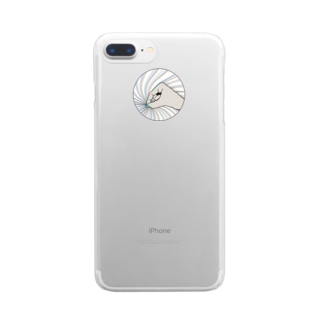 灰の手 Clear smartphone cases