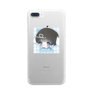 生きててごめんへらグッズ Clear smartphone cases