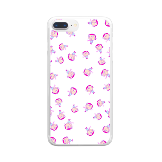 charlolのLove charlie  ピンク Clear smartphone cases